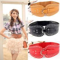 women rivet cutout cummerbund elastic women's cummerbund fashion newest belt
