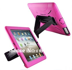 COMBO Armor Heavy Duty Multicolor Case for iPad 2 New ipad 3 W/STAND Cover 20pcs wholesale(China (Mainland))