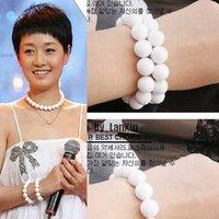 Amazing On Sale+Free shipping+20pcs/lot+Candy White Elasticity bracelet Lady's Jewelry