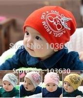 Freeshipping!!!hot sale DAPE baby hat infant hat infant cap 100%cotton good elastic /10pcs=1lot /children's garments BA-019