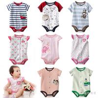 Free shipping Baby romper jumpsuit newborn triangle romper baby summer short-sleeve romper