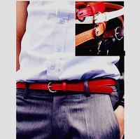 2012 spring male pin buckle strap male PU men's casual small strap fashion men belt