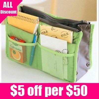 Organizer on Zipper Storage Bag In Bag Makeup Organizer Cosmetic Bags 1pcs Retail