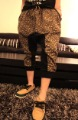 2012 new men&#39;s fashion  male leopard print harem pants casual short trousers large file pants