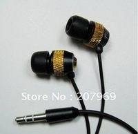 10pcs/lot metal in ear stereo earphones with high-grade bag packaging D9 applicable MP3/MP4 / computer / walkman free shipping