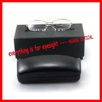 Old Store New Price! L-882 memory-alloy reading glasses, full-rim + leather glass case + outer paper box