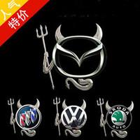 Free Shipping Car stickers devil three-dimensional demon personality emblem decoration stickers car sticker general
