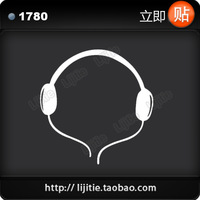 Free Shipping Personalized earphones emblem refires car sticker reflective car stickers 1780