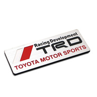 Free Shipping TOYOTA trd refires metal stickers emblem car decoration stereo personalized car stickers rav4