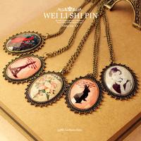 free shipping wholesale 10pcs/lot 4158 fashion vintage accessories laciness gem eiffel tower flower necklace