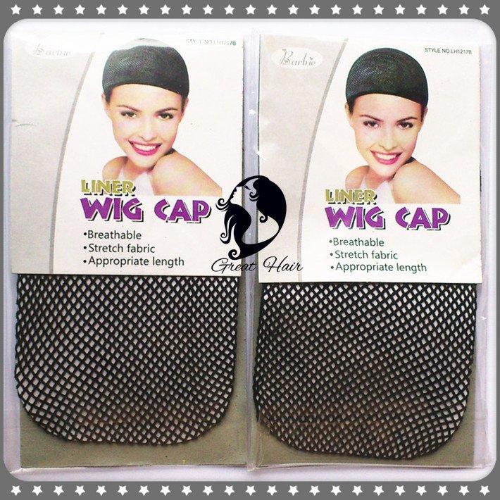 50 pieces/ Lot Black Color ELASTIC Fashion Cool Mesh Weaving Wig Cap & Hair Net Free Shipping(China (Mainland))