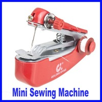 Retail Mini Handheld Portable Clothes Fabrics Sewing Machine Free Shipping