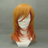 free shipping cosplay wig - 45cm three-color gradient cos wig 217a Synthetic wig