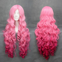free shipping cosplay wig long - 90cm Pink gradient cos wig 221a hot sale