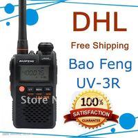 DHL x 5 pcs Baofeng UV-3R MarkII Dual frequency display 136-174/400-470mHZ mini two way radio walkie talkie