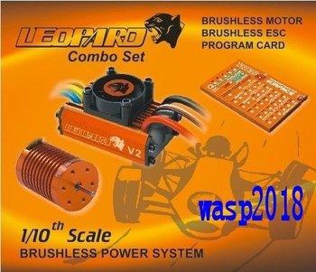 Skyrc Leopard 4370KV/9T/2P Brushless Motor + 60A ESC + Program Card Combo Set For 1/10 Car
