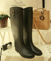 fashion  high quality rain boots  big star style elegant   rainboots  rain boots shoes Riding boots for woman