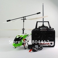 Wholesale! New Fashion 3CH Infrared RC Remote Control Helicopter Metal Coaxial with Gyroscope Green, Free Shipping