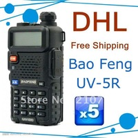 High Quality BAOFENG UV-5R UHF+VHF Dual Band/Dual Watch Two-Way Radio FM Function DHL Free Shipping