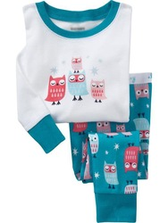 baby cotton long sleeve owl design pyjamas kids clothing set children sleepwear 6sets/lot free shipping tracy ke(China (Mainland))
