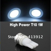 Free Shipping 30pcs T10 1W 194 168 high power White Car LED light Bulbs