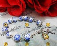porcelain rosary bracelet,ceramic bracelet