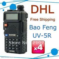 FREE Shipping BAOFENG 5W UV-5R Dual Band Radio 136-174/400-480mHZ two way radio
