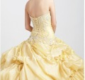 New Arrival 2013 charm Prom Dresses Ball Gown Sweetheart Floor length Applique Organza Quinceanera Dresses(China (Mainland))