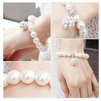 E5125 queer accessories bracelet all-match pearl ball bracelet hot-selling (KE)