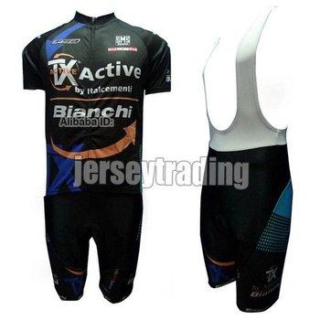 2012 Bianchi TX active black CYCLING JERSEY AND & BIB SHORTS S~XXXL