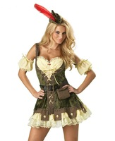 Womens Sexy Caribbean Female Pirate Costumes Halloween Free Shipping