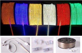5050 SMD 50M Flexible LED Strip  60 leds /M 220V(230-240v) Tube-type Waterproof White, Warm white, Red, Blue, Green