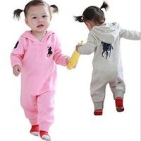 Free shipping +4pcs/lot Hot-selling Brand children long-sleeve romper jumpsuit /girls and boys romper