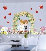Free shipping The wedding ceremony Popular & mordern windows & wall stickers