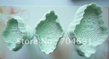 New 3pcs/set Macrame Shape Cake Plunger cutter Cake Decoration Mold fondant Tool
