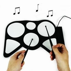 USB Roll-Up jazz Drum Kit - Cool Gadget fold electronic drum set child toy chrismas gift(China (Mainland))