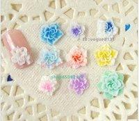 210 pcs/lot Pretty Multicolor 3D polymer clay Flower Acrylic Nail Art Tips Decoration UV Acrylic mix 7 colors nail decorations