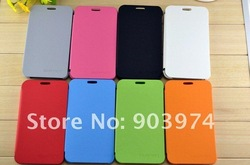 High Quality Flip Genuine Pu Leather Case Cover For N7000 I9220 + Screen Protector Free Shipping(China (Mainland))
