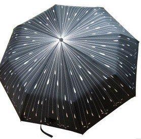 free shipping Anti-UV three-folding umbrella folding clear umbrella Creative Romantic rain meteor umbrella op073
