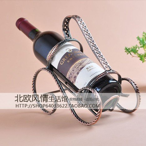 free shipping The classical fine wrought iron holder bronze wine rack wine ADS Table Setting creative op071(China (Mainland))