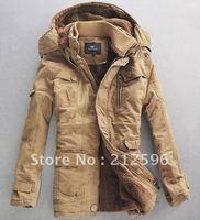 2012 winter new fashion men's sherpa cotton coat frock in a long paragraph lambs wool coat Slim uniform jacket