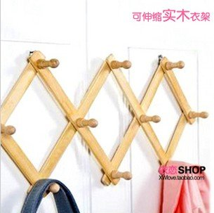 2014 free shipping Clothes coat hooks hanger creative after hook idyllic wooden doors op063