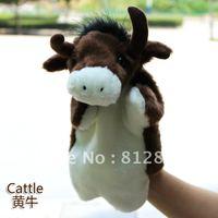 Animal model prop plush toys hand puppet Buffalo
