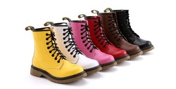 sexy fashion ankle woman boots artificial leather boots snow classical oxford motorcycle boots red black pink yellow white(China (Mainland))