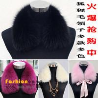 Fur collar women's fox fur scarf  collar