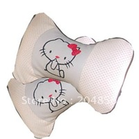 free shipping Hellokitty cartoon headrest health care car headrest genuine leather breathable seasons general car seat covers