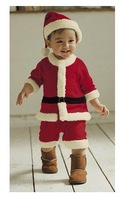 Free Shipping Baby Christmas clothes/children christmas cloth/ Santa Claus clothing Costume