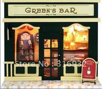 N3 Retail Creative mini diy European shop series-- Green Bar