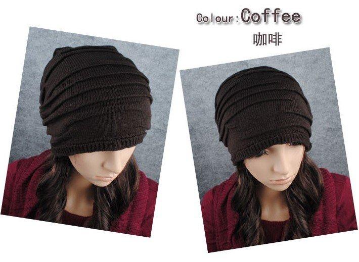 Free shipping 600pcs lot Korean version of popular fold caps fashionable men and women knitting line