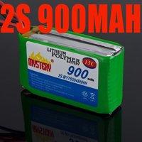 10PCS 2s 7.4V 900mAh lipo Li-Po battery 15C FOR RC helicopter AKKU For RC HELICOPTER - LAMA V3 15C AKKU V4